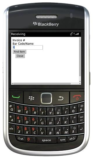 BlackBerry Search Item by barcode or name