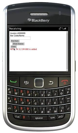BlackBerry added item