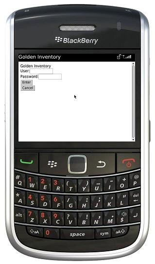 BlackBerry login page