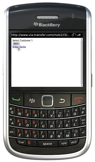 BlackBerry select customer