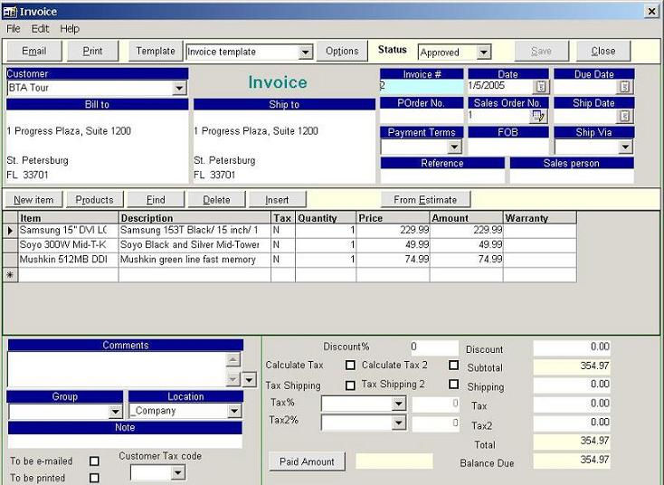 Inventory Management Software - Invoice software with inventory
