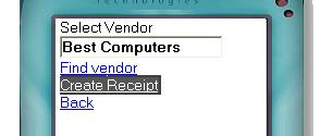Item receipt Mobile Inventory system software