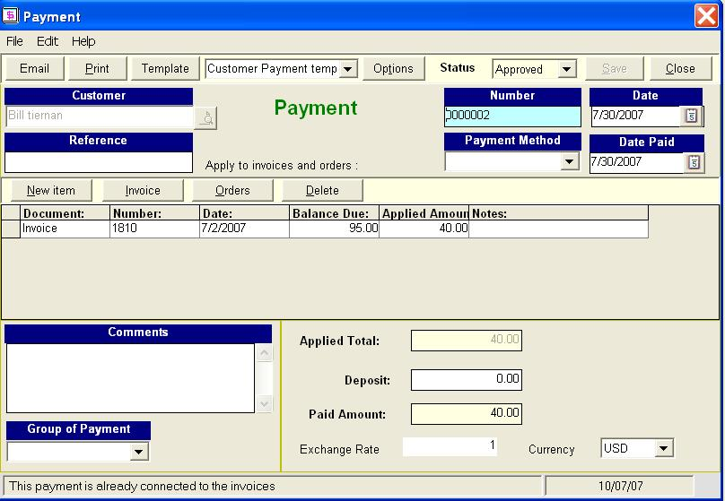 Payment  Golden Inventory Management System
