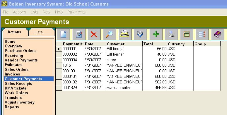 payments golden inventory management system