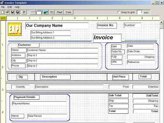 Ms Access Invoice Template  ParablesCo