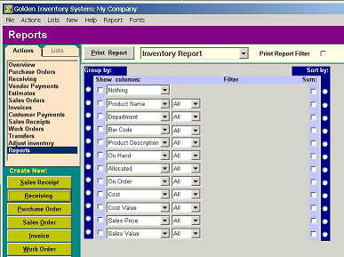 Manufacture inventory software